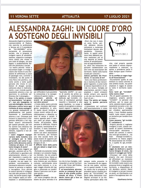 """Faccia a faccia con il presidente: Alessandra Zaghi parla di sé e """"GLI INVISIBILI"""""""